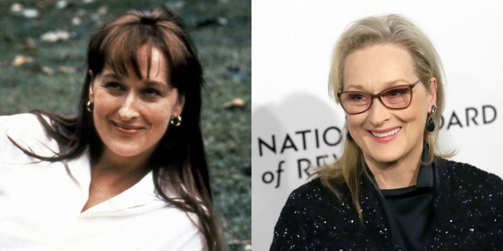 Meryl Streep v filmu Najini mostovi (1995) in leta 2018, stara 69 let.