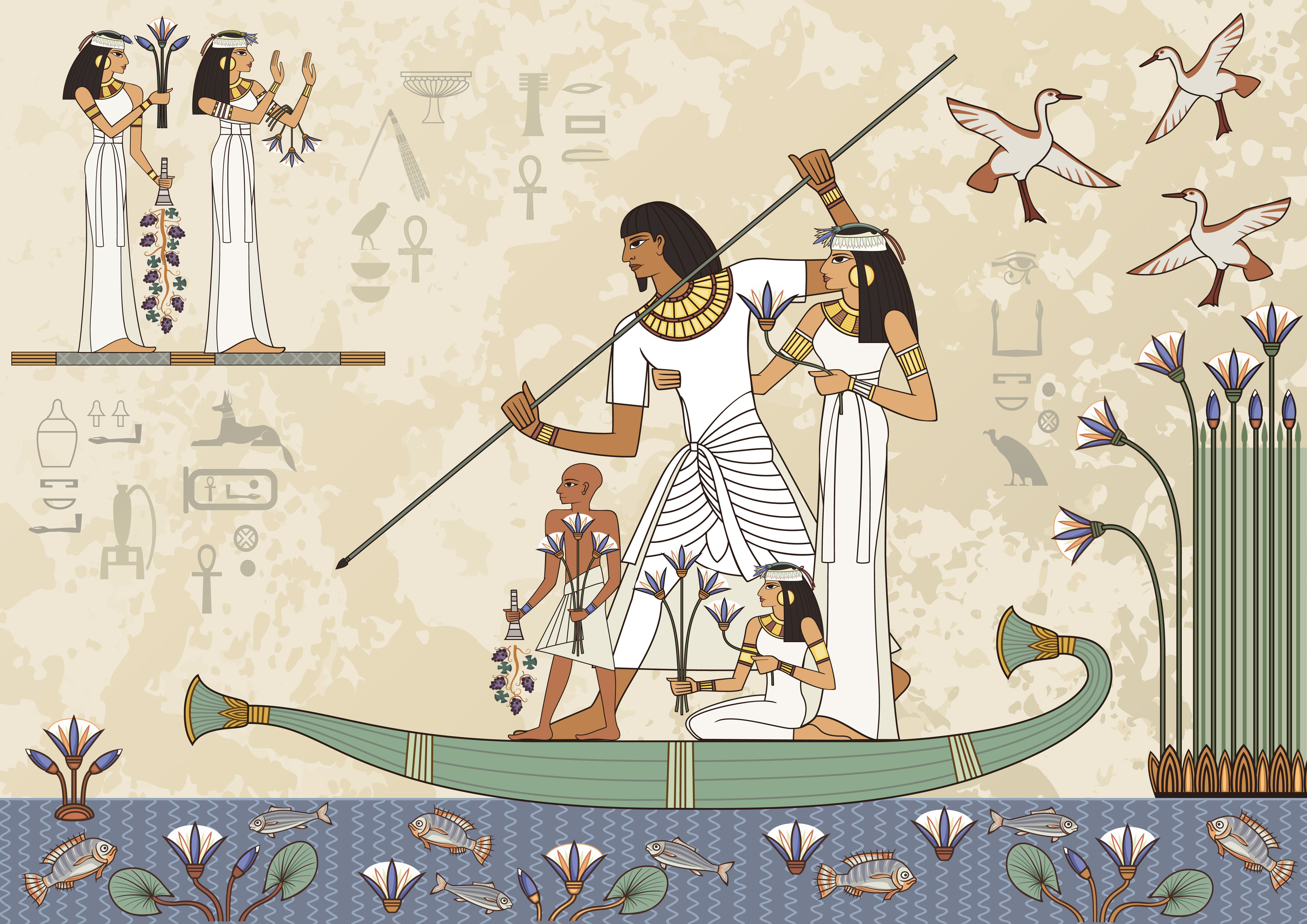 V starem Egiptu naj ne bi dokumentirali zakonskih zvez.