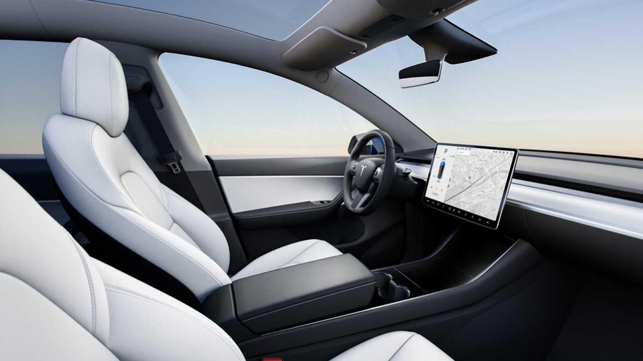 Notranjost novega modela Tesla Model Y