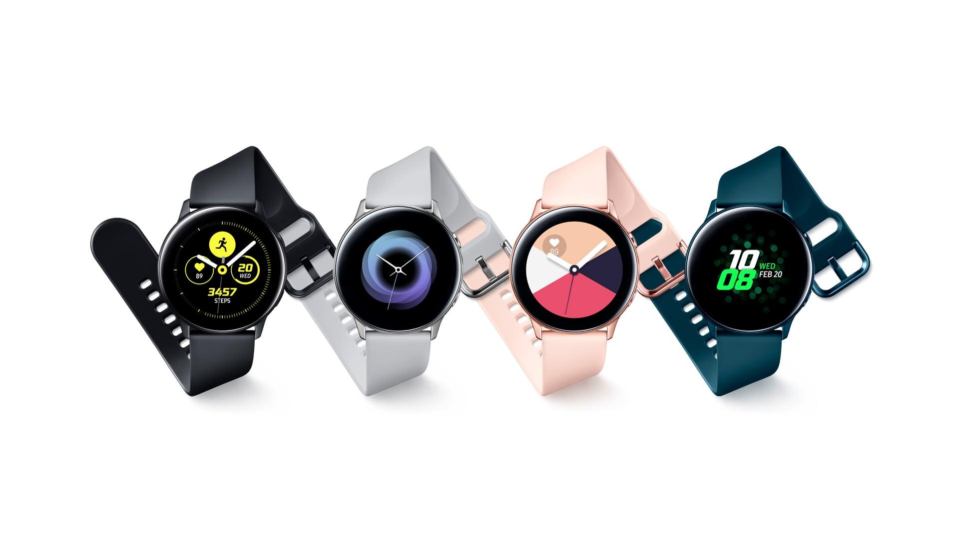 Samsung Galaxy Watch Active - simpatična barvna paleta in minimalističen dizajn.