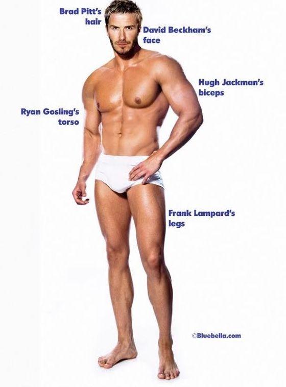 Popolno moško telo glede na moške