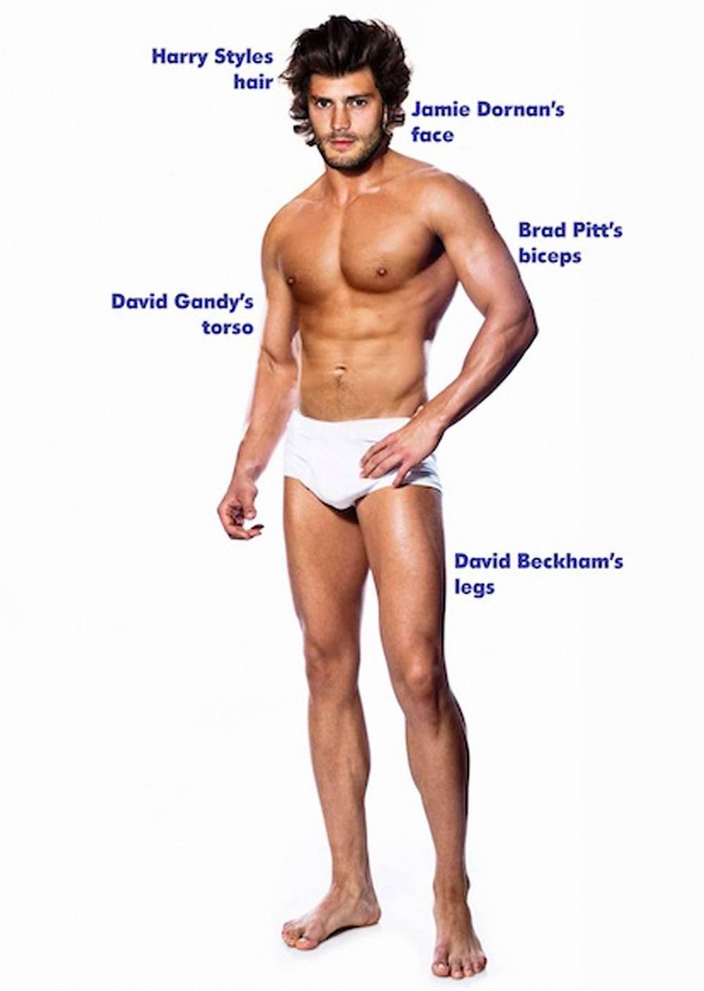 Popolno moško telo glede na ženske