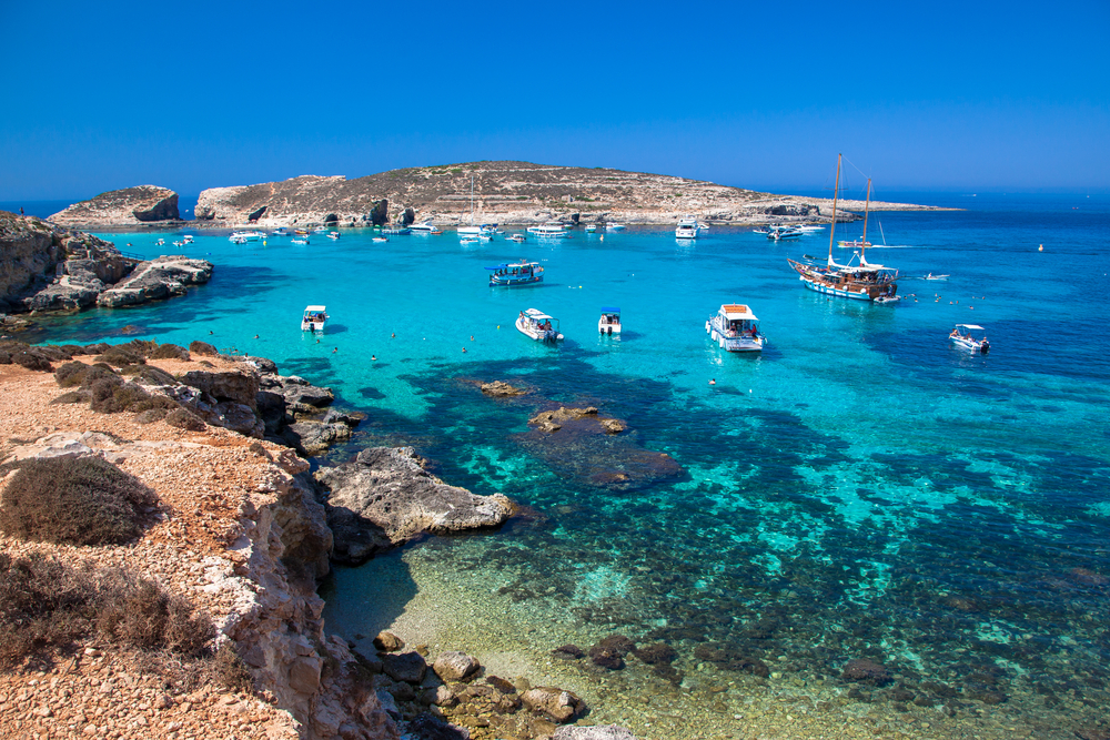 Modra laguna, Comino, Malta