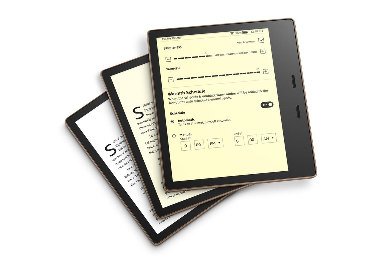 Novi Kindle Oasis ponuja možnost prilagajanja barvne temperature zaslona.