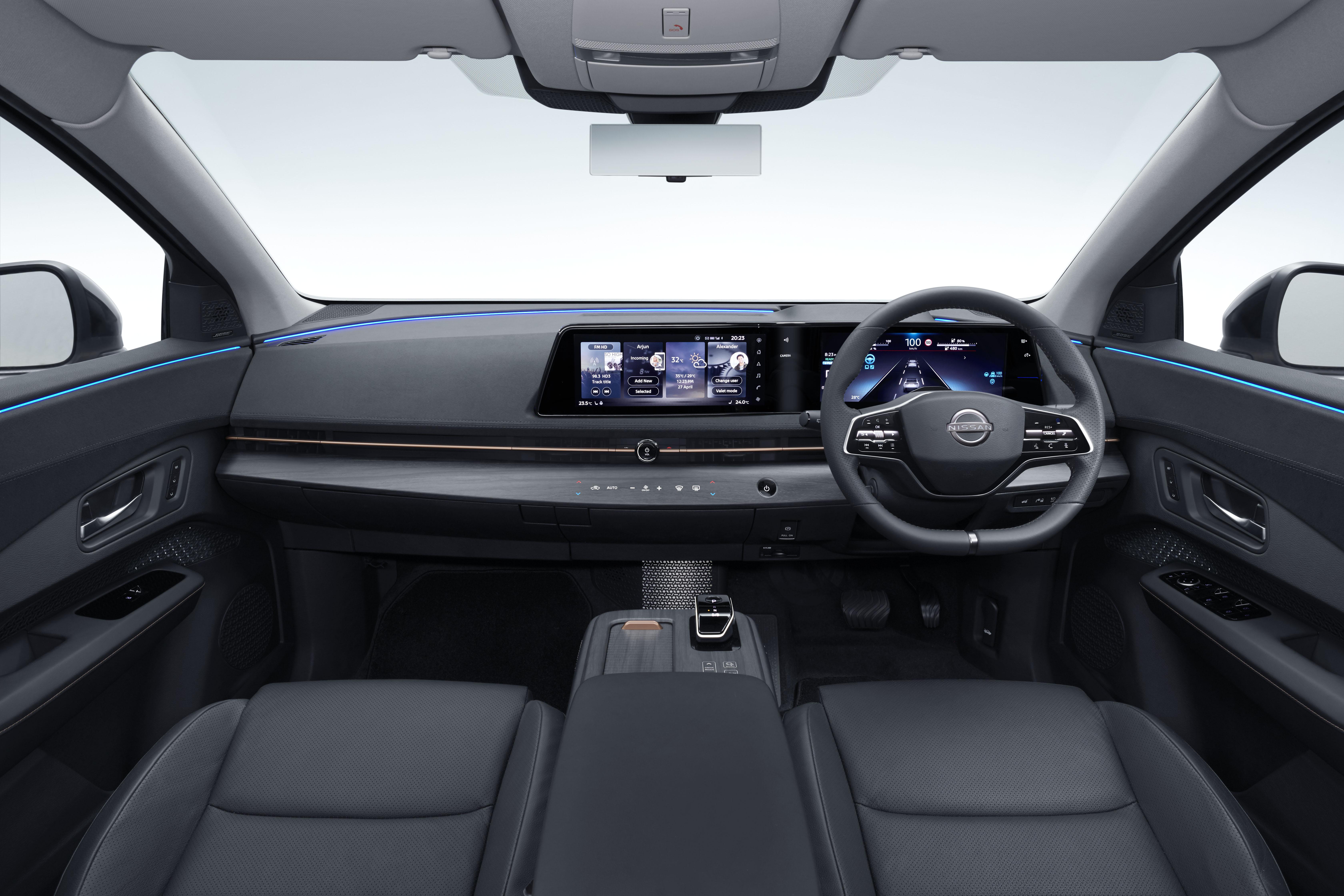 Nissan Ariya - izčiščena notranjost - brez odvečnosti!