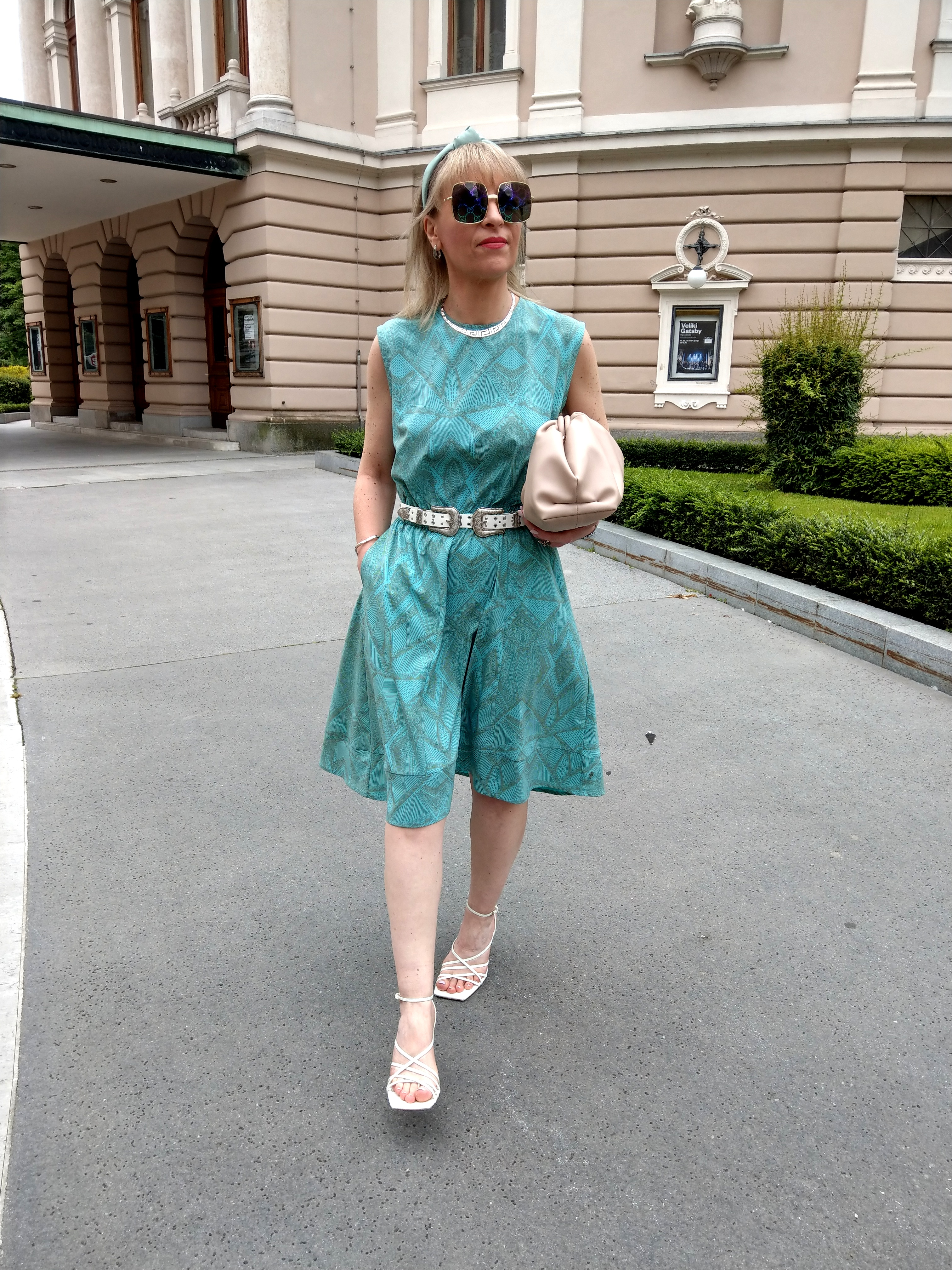 Brigita Potočki v obleki iz kolekcije Spotless